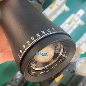 adjustable beam track lighting 10~60degree