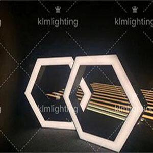 hexagon led pendant lights - Suspended LED Rectangle Linear light fitting