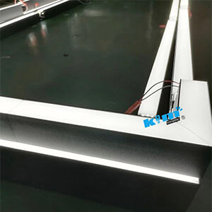 seamless linear light very easy for installed - Suspended LED Rectangle Linear light fitting