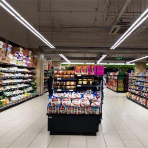 Linear light for supermarket aisle