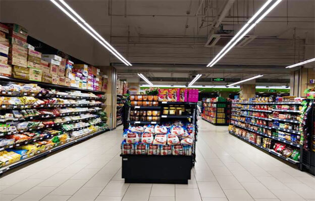 Linear light for supermarket aisle - Office Linear Light