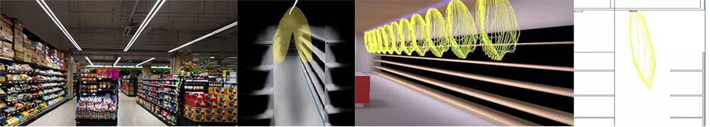 led linear light for Bilateral shelf or Unilateral shelf - Linear light for supermarket aisle