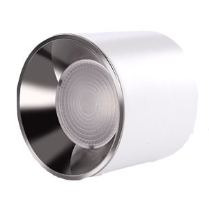 Surface downlight with sliver reflector - Round & Square Anti Glare Surface Down lights