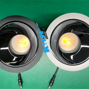40w hotel adjustable downlight with black color - Round & Square Wall Washer Hotel Downlights