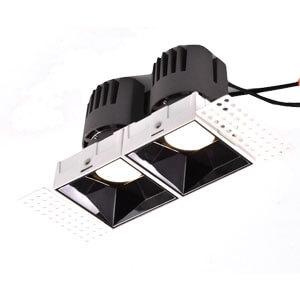 double head trimless square downlight - 7~40W Anti-glare Hotel Spot Down lights