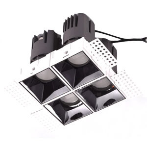 trimless with 4 heads griller spot downlight - 7~40W Anti-glare Hotel Spot Down lights