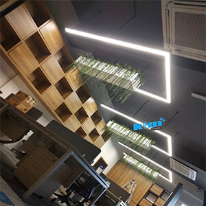 Lighturr seamless connection linear light for office China supplier - Suspended LED Rectangle Linear light fitting