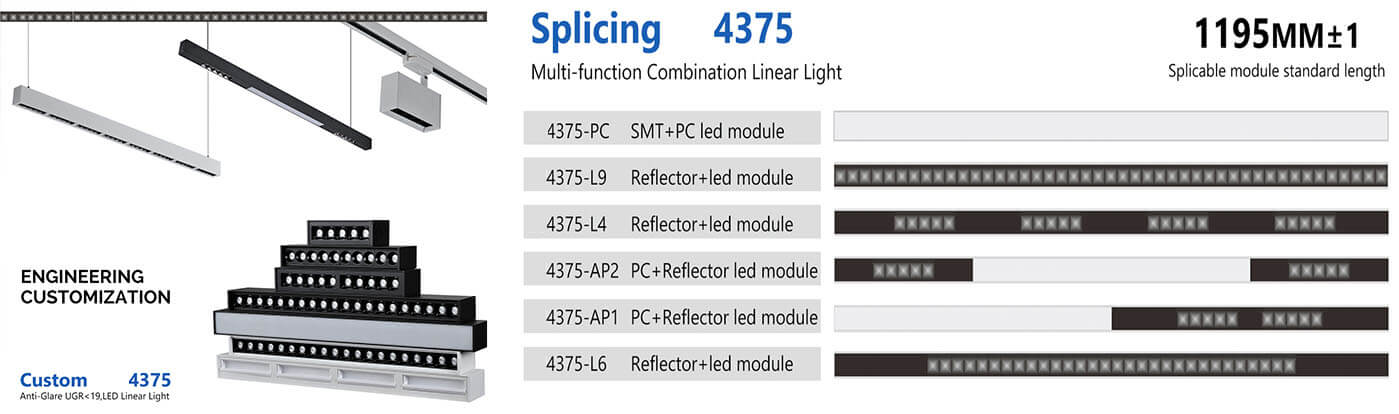 splicing anti glare linear light - Surface / Suspended Office Linear Light