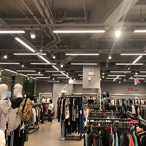 Linear Track Lighting for clothing store - LED Linear light with track adapter