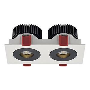 adjustable 2X12W led grille spot lights - 7W 12W Led Grill Spotlights