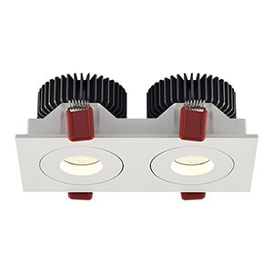 double head recessed led grille light - 7W 12W Led Grill Spotlights
