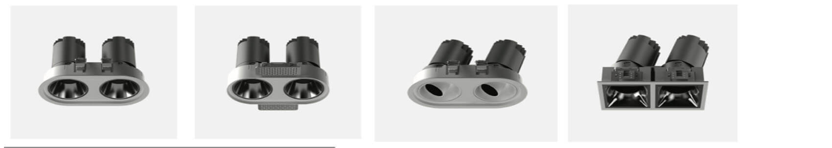 2X12 recessed led spotlights - Led Spotlight Recessed with 6 colors reflector