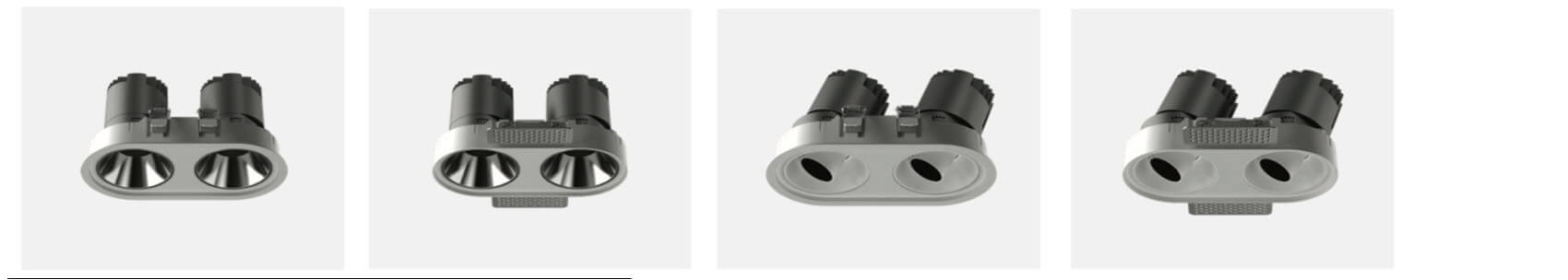 2X20 round LED SPOT DOWNLIGHT - Led Spotlight Recessed with 6 colors reflector