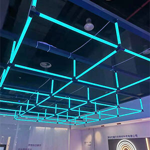 360degree square linear lighting ALPHABET OF LIGHT RGB - 360degree PMMA lighting tube