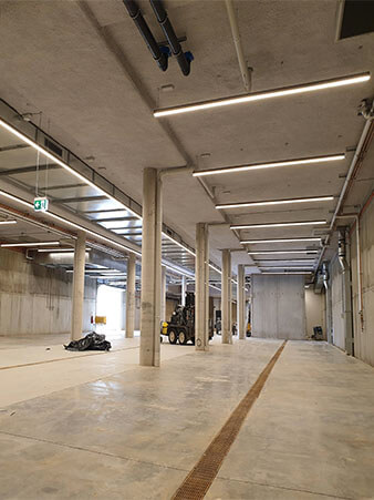 5070 linear light for winery installation