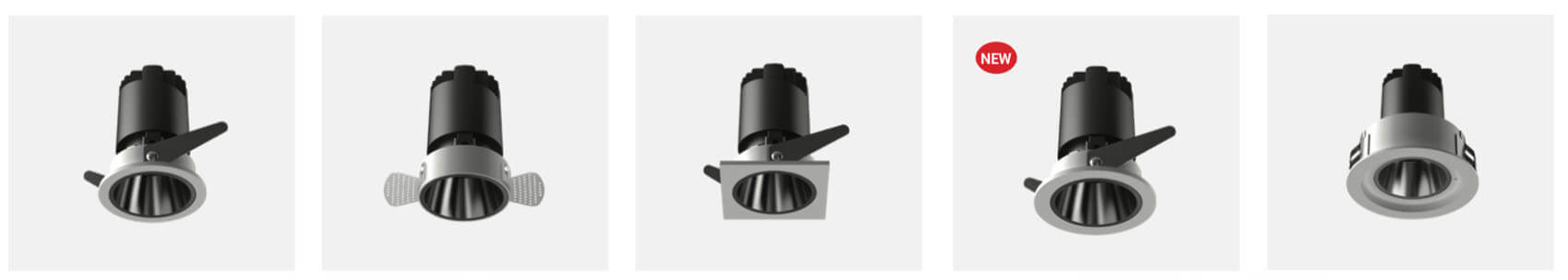 6w led spotlight recessed - Led Spotlight Recessed with 6 colors reflector