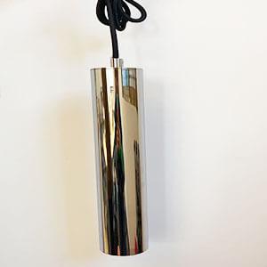 Chrome Tube Pendant Lights - Modern LED Cylindrical pendant light