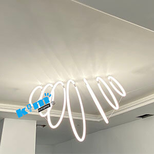 round 360degree lighting ALPHABET OF LIGHT LETTER WALL - 360degree PMMA lighting tube