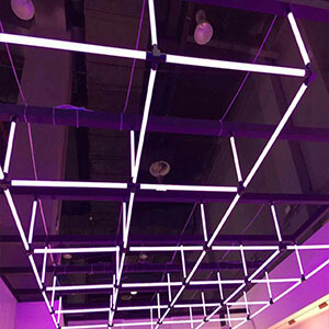 square 360degree lighting design with RGB - 360degree PMMA lighting tube
