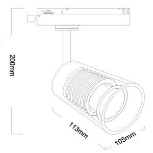 24w modern led track light - Glass Morden pendant light