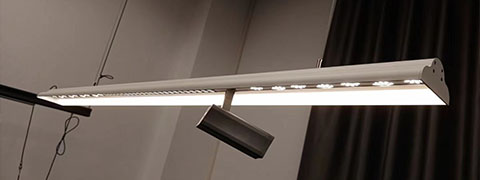Combination LED Linear Suspended light